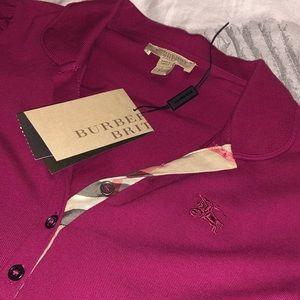 Burberry Brit Fritillary Pink Polo Shirt